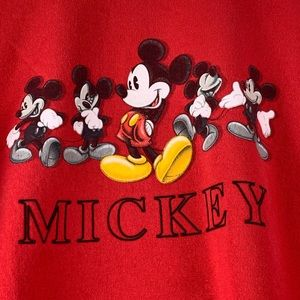 Disney Store Mickey Mouse Red Graphic Pullover